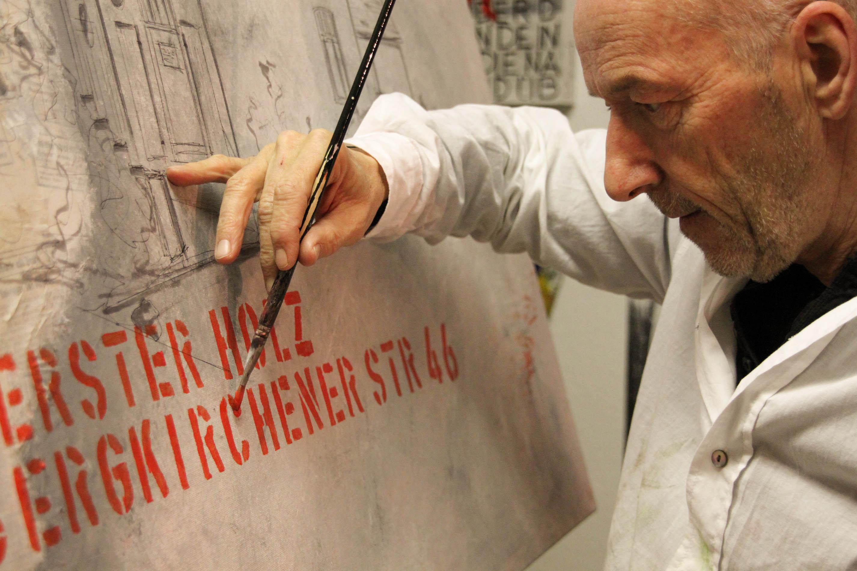 Kurt Trometer im Atelier